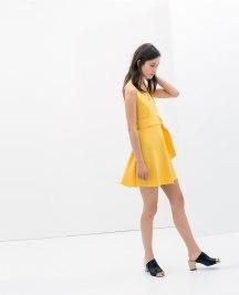 yello zara dress